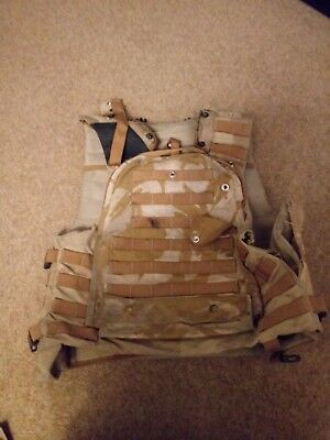 British Army Surplus Osprey Mk3 Body Combat Body Armour Vest Only Desert 190/108