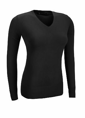 Glenmuir Ladies Supersoft Cotton Sweater Black Extra Large