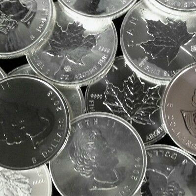 Silver   1 oz' Canada Maple..