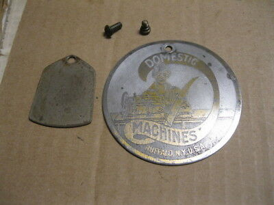 Antique Vintage Domestic Treadle Sewing Machine Front & Rear Round Cover Plate