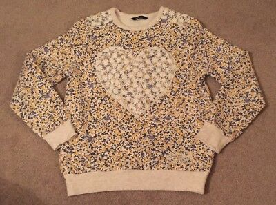 George Girls bird print Jumper Age 9-10 Years- Small Fit. Worn Once!