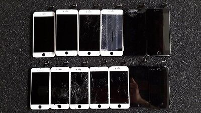 Lot of 18 iPhone 6S and 6S Plus Cracked Screens Good LCD Digitizer Original OEM