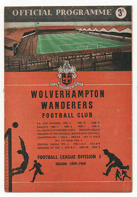 1959 Charity Shield Wolverhampton Wanderers v Nottingham Forest