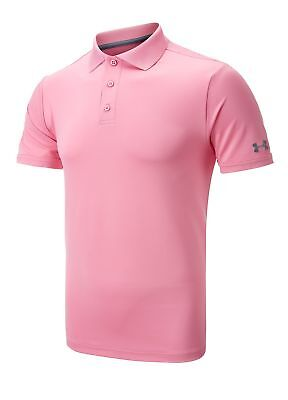 Under Armour Golf Performance Polo Shirt Pink Small