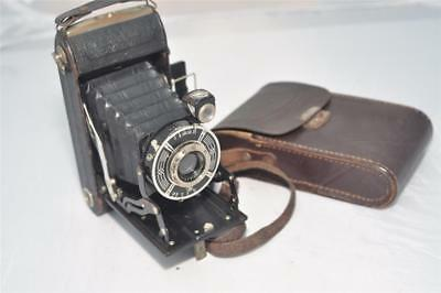 Vintage Art Deco German Wirgin Auta Folding 120 6x9 Film Camera 1930's 40's