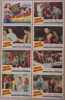 YOUNG AND WILD ORIGINAL 1958 SET OF 8LC's 11X14 WILLIAM WITNEY VG-EX