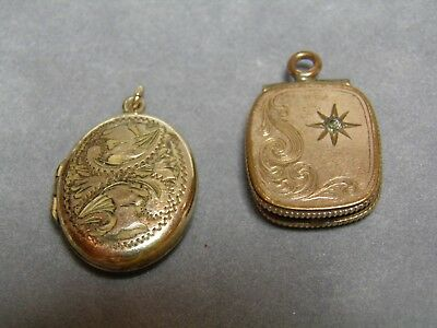 Vintage Rolled Gold x 2 Lockets