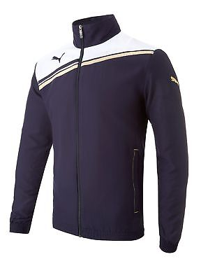 Puma King Full Zip Jacket Navy/White Medium
