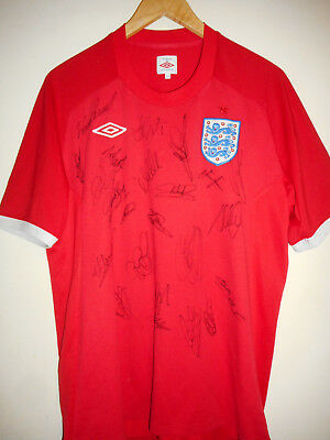 England signed football shirt by 2010 World Cup Squad inc COA