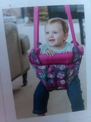 Evenflo ExerSaucer Door Jumper Pink Bumbly Enclosed Active Fun  Free Shipping
