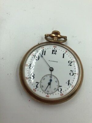 Illinois Openface Pocket Watch 11jewels