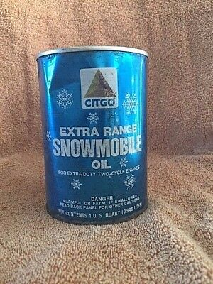 Vintage Citgo 1QT Snowmobile Oil Can-Just Can;Cities Service Oil Co.,Tulsa, OK