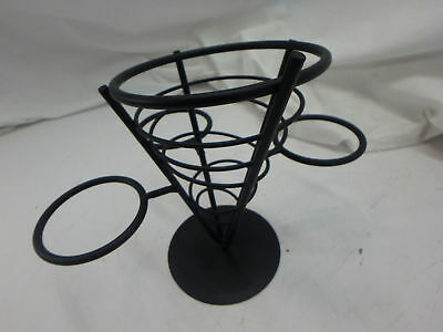 American Metalcraft Fry Baskets and Cones, Black (Missing Parts)