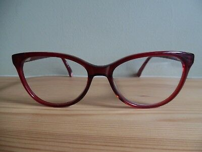 Cath Kidston Translucent Red & Pink Floral Cat Eye Glasses 01 53 16-140