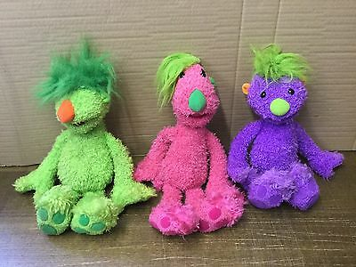 "X3 Set Talking Hoobs Soft Toy Plush 18"" By Jim Henson 2001 Vgc Rare"