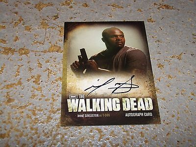 Walking Dead Season 2 CRYPTOZOIC IronE Singleton/ T-Dog A11 Autograph Auto Card