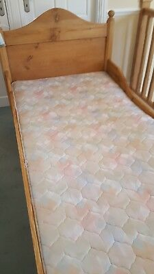 antique pine goldilocks bed - single
