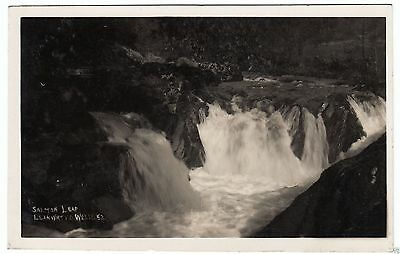 LLANWRTYD WELLS - Salmon Leap - by F D Shackley - 1930 used Real Photo postcard
