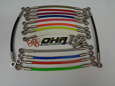 OHA Stainless MX Braided Front & Rear Brake Lines for KTM 125SX 125 SX 2000-2008