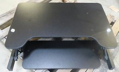 """Sorbus Standing Desk- Height Adjustable Sit-To-Stand w Keyboard Tray 32"""" Wide"""