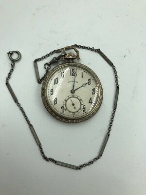 Elgin Openface Pocket Watch 14k Gold Filled 23j Railroad