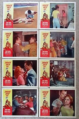 SHACK OUT ON 101 ORIGINAL 1956 SET OF 8LC's 11X14 LEE MARVIN TERRY MOORE VG-EX