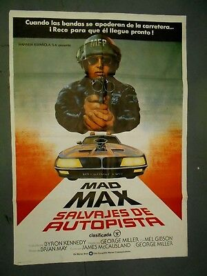 Mad Max 1979 original Spanish 1-sheet movie poster Mel Gibson cult sci-fi