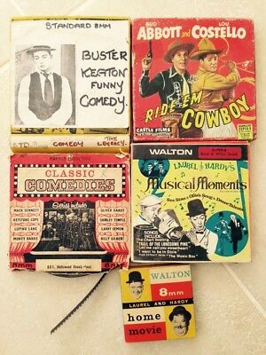 Super 8 Comedy Bundle, Laurel And Hardy, Abbott And Costello, Buster Keaton