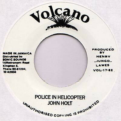 JOHN HOLT Police In Helicopter / Version VOLCANO REISSUE 7""