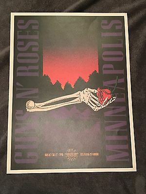Rare Guns N Roses Lithograph Not In This Lifetime Minneapolis 7/30/2017 2017
