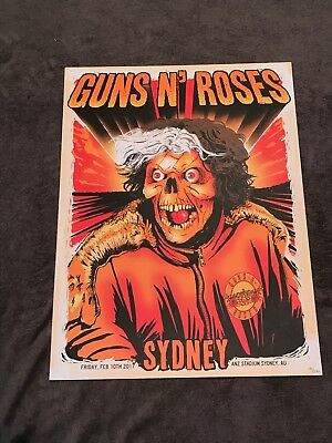 Rare Guns N Roses Lithograph Not In This Lifetime Sydney, AU 2/10/17 151/250