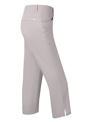 Adidas Ladies Lightweight Capri Golf Trousers Pearl Grey UK16