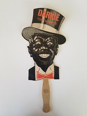 Darkie toothpaste advertising fan Authentic vintage good condition Americana