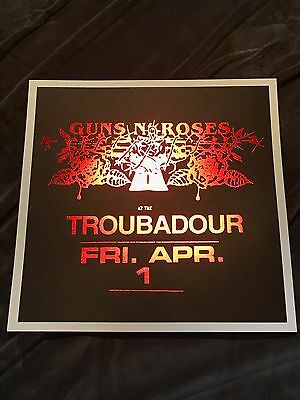 Rare Guns N Roses Hollywood CA Lithograph Not In This Lifetime Black and Red