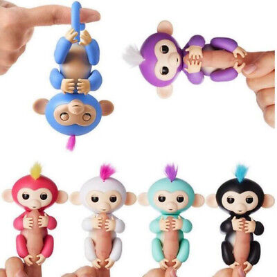 Monkey Fingerlings Baby Interactive Toy Hair Finger Fingerling Stand Gift New W