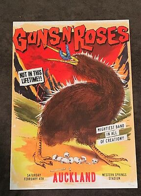 Rare Guns N Roses Lithograph Not In This Lifetime Auckland, NZ 2/4/17 199/500