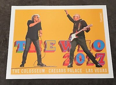Rare The Who Las Vegas 2017 Lithograph Las Vegas The Colosseum Caesars Palace