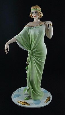 Made in Italy Signed Sandro Maggioni Porcelain Collectible Flapper Lady Figurine