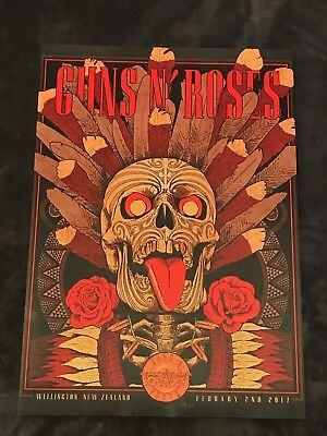 Rare Guns N Roses Lithograph Not In This Lifetime Wellington, NZ 2/2/17 128/200