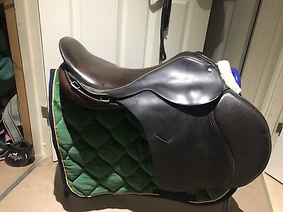 "18"" Barry Swain Holistic Jumping Saddle Brown NO RESERVE!"