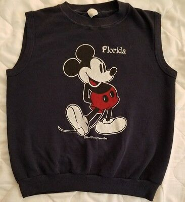 true vintage 70's 80's Mickey Mouse Florida sleeveless shirt Walt Disney