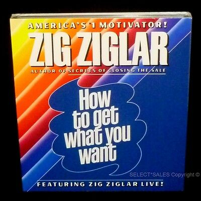 NEW ZIG ZIGLAR How To Get What You Want Positive Self Image Goal Setting Success