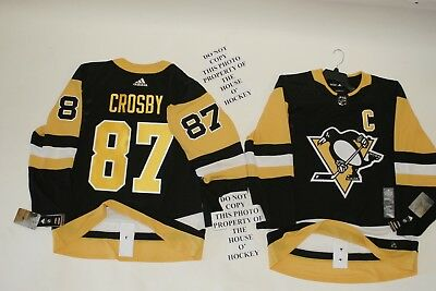 meet 39b1a e2c66 Sidney Crosby Pittsburgh Penguins Adidas Home Authentic Hockey Jersey