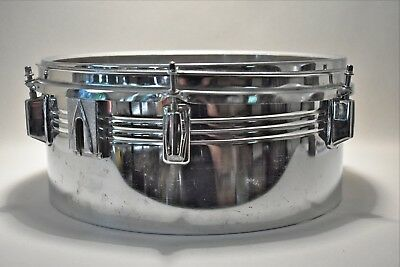 "vintage Chrome Snare Drum drum-only 14"" x 6-1/2"" very good condition estate find"
