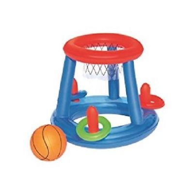 Inflatable Pool Play Center by H2O GO! - Basketball and Ring Toss - For Ages 3+