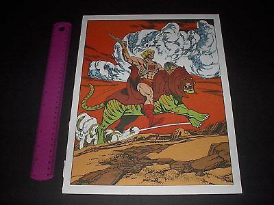 Masters Of The Universe Battle Cat Poster Pin Up Vintage 1984 He-Man