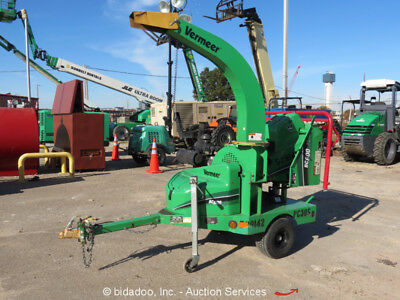 "2013 Vermeer BC600XL 6"" Towable Wood Chipper Brush Cutter Kohler 27HP bidadoo"