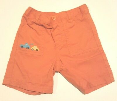Gymboree Baby Boy Size 18-24 Months Shorts. Orange with Cars.