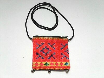 New!  Collectable:  Hand-Made, Zippered, Change Bag, With Bright Design! -:)...