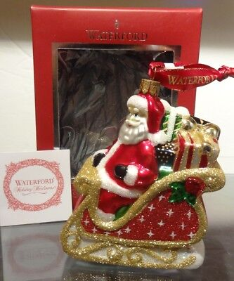 New Waterford Holiday Heirlooms Santa Coming To Town Tree Ornament
